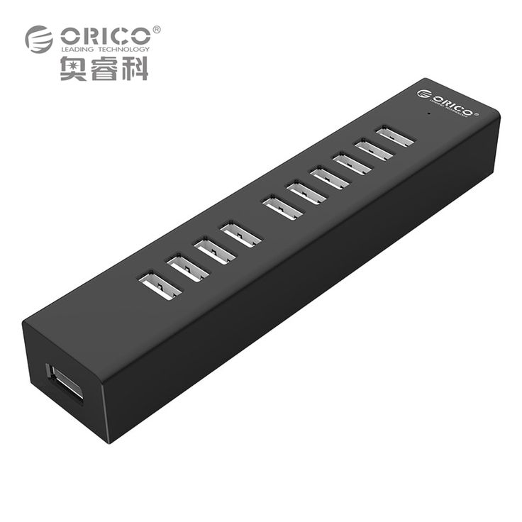 ORICO H1013-U2 10 Ports USB 2.0 HUB for MAC Notebook Perfectly with 100CM Data Cable - Black/White