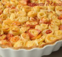 Recette - Tarte bouquet de roses, d'après Alain Passard - Proposée par 750 grammes