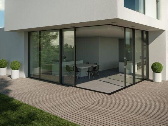 Hi-Finity schuifraam op hoek verruimt architecturale opties - Bisbeurs Gent - Livios
