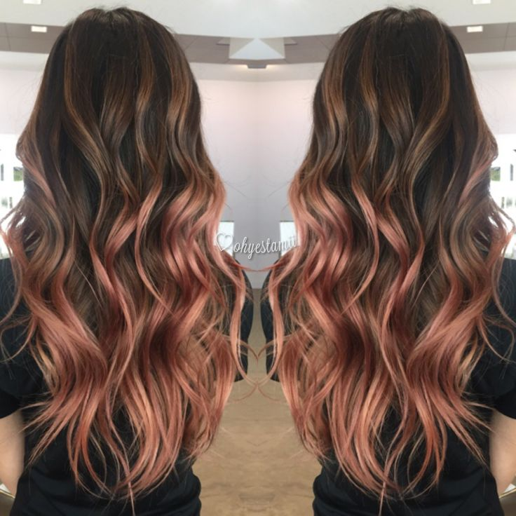 Pinterest dopethemesz ; rose gold/copper dreams ; my rose gold balayage