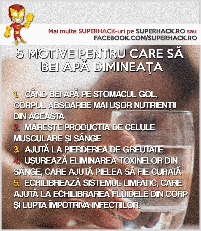 5 Motive pentru care să bei apă dimineaţa - SuperHack.ro