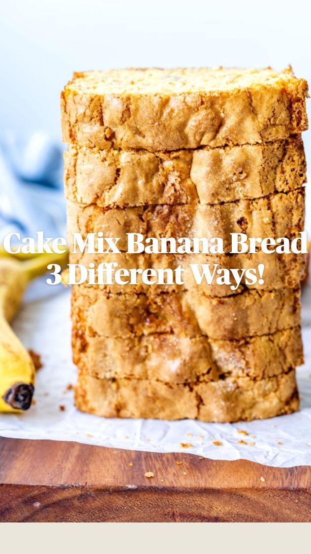Cake Mix Banana Bread, Banana Bread Recipes, Appetizer Recipes, Dessert Recipes, Desserts, Easy Budget, Easy Holiday Recipes, Budget Recipes, Dessert Bread