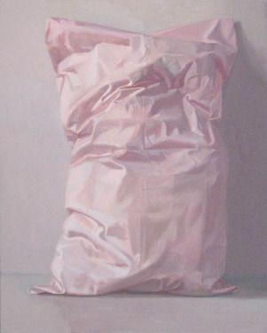 "Pillow Painting, ""Sweet Dreams"" #pink #art - Saatchi Art Artist Alex Hanna"