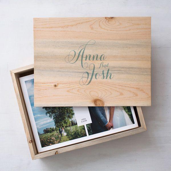 Boxed Photo Albums: Album Wooden Box From Http://hannahblackmoreweddings.com