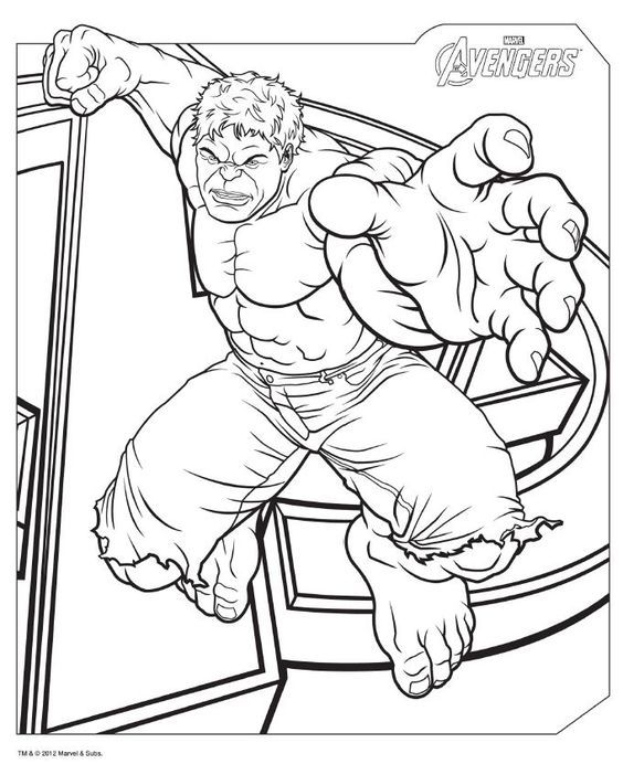The Avengers Hulk Coloring Pages Printable And Book To Print For Free Find More Online Kids Adults Of