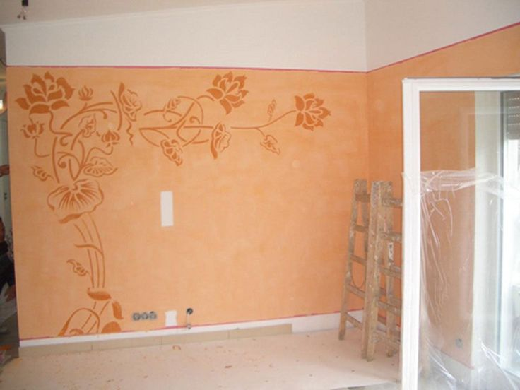 wandschablone blumenranke gestaltungswunder schablonen strau und wandschablonen. Black Bedroom Furniture Sets. Home Design Ideas