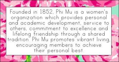 From Phi Mu Web site