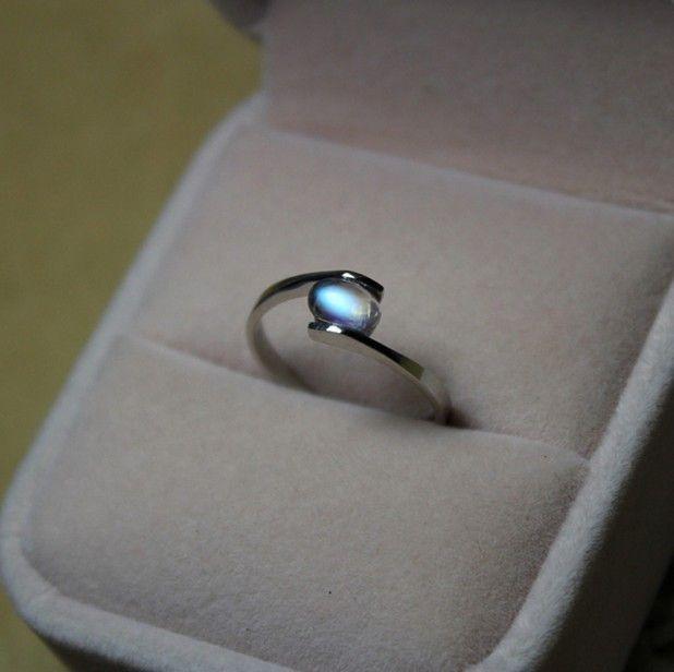Necesidad para Sri Lanka de top azul luna choi, anillo de piedra de luna necesita luna anillo cabochon