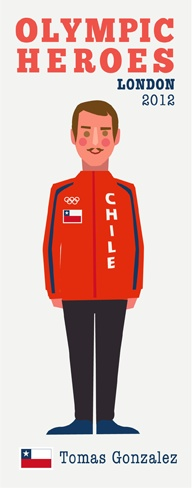 Tomas Gonzalez. Stylish Chilean 'tache wearer. http://printablepaperproducts.com/printable-crafts/olympic-games-london-2012