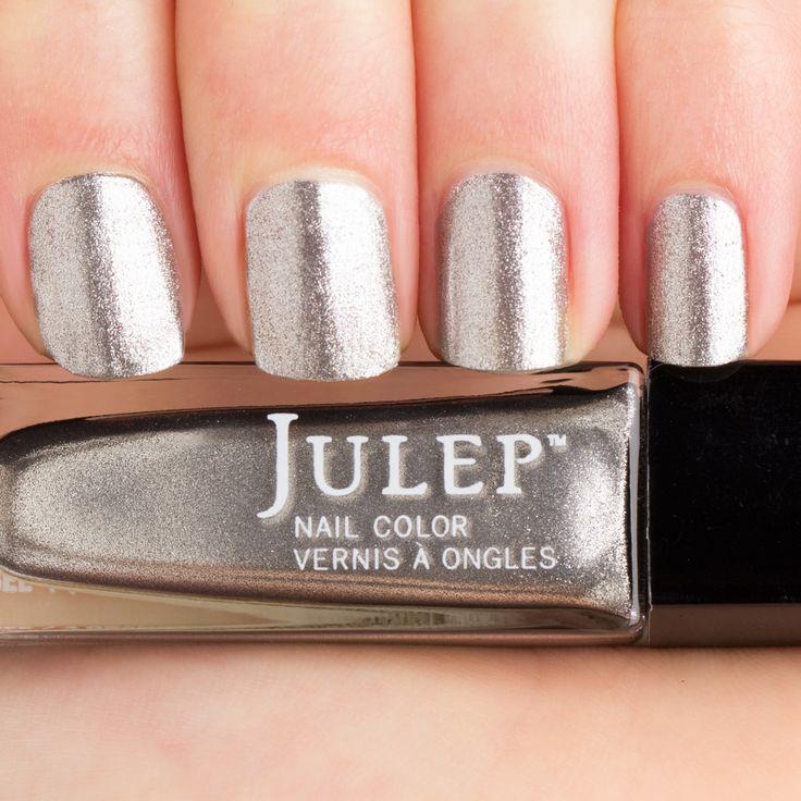 Julep Missy. Thumbnail swatch of Titanium metallic nail polish. It girl.
