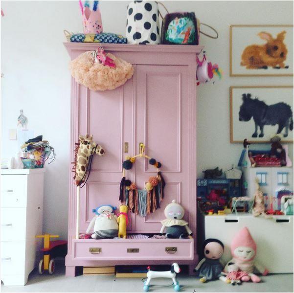 Pink armoir. Kids Wardrobes. Kids Armoire. Light wood wardrobe. #tinylittlepads @tinylittlepads www.tinylittlepads