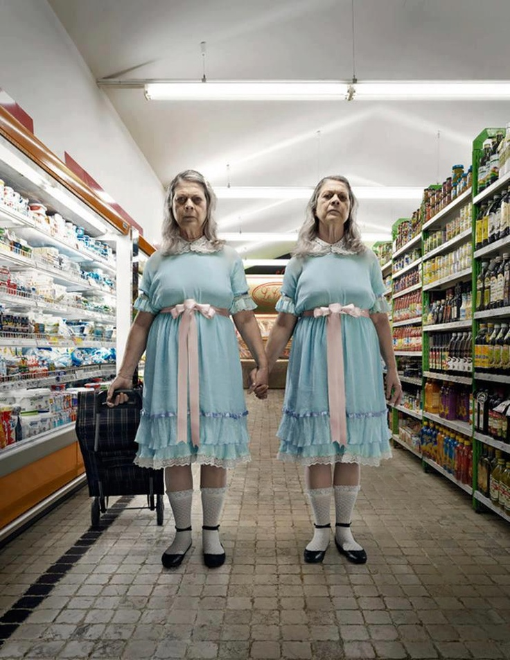 """If the twins never died from the Shining.... """"Come and play with us!"""""""