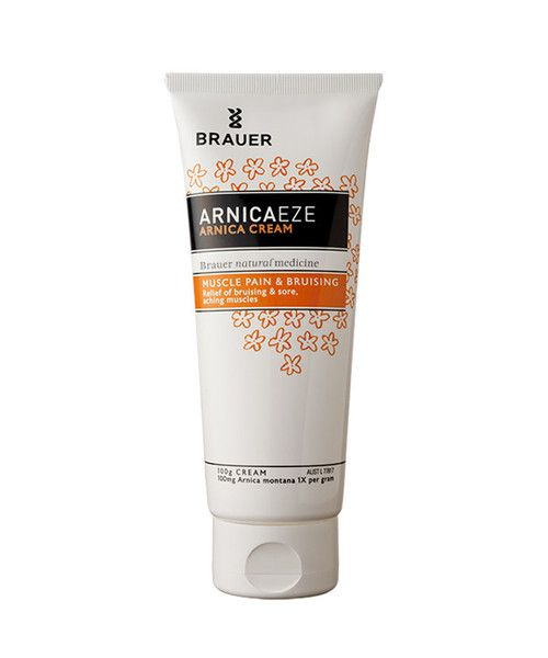 Brauer Arnicaeze Arnica Cream 100g- Arnicaeze Arnica Cream for muscle pain and bruising contains Arnica Montana, which is traditionally used in homeopathic medicine to help relieve strains, sprains, bruising and sore, aching muscles. It may therefore help to relieve muscular pain caused by overexertion, heavy work or sporting activities. The smooth cream is easy to massage into injured areas.
