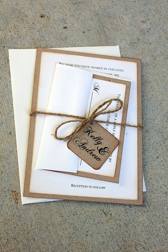 are labels on wedding invitations tacky%0A Rustic Wedding Invitation Set Rustic Wedding by SweetSights