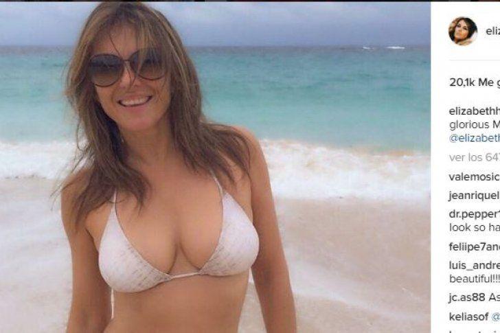 Elizabeth Hurley sorprende en bikini a sus 51 años (Fotos)