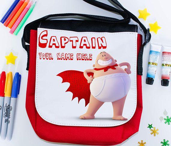 Captain Underpants school pernalised lunch bag  super hero