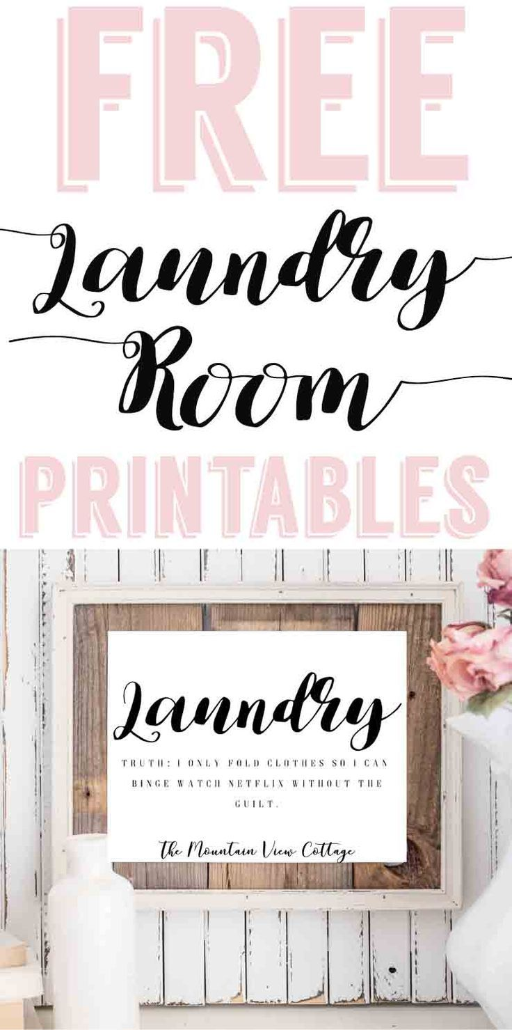 Laundry Room PrintablesFree Farmhouse Printables