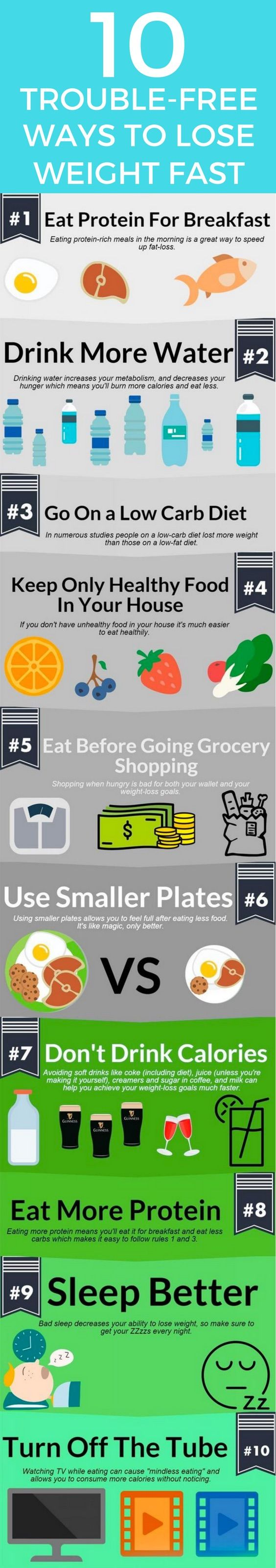 10 little effort ways to lose 20 pounds.