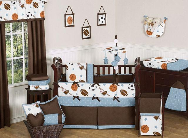 best baby boy crib set   Baby Boy Crib Bedding Sets Sports in Baby Decoration