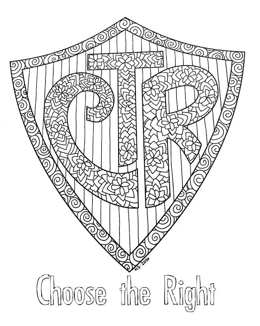 Enterprising image intended for lds printable coloring pages