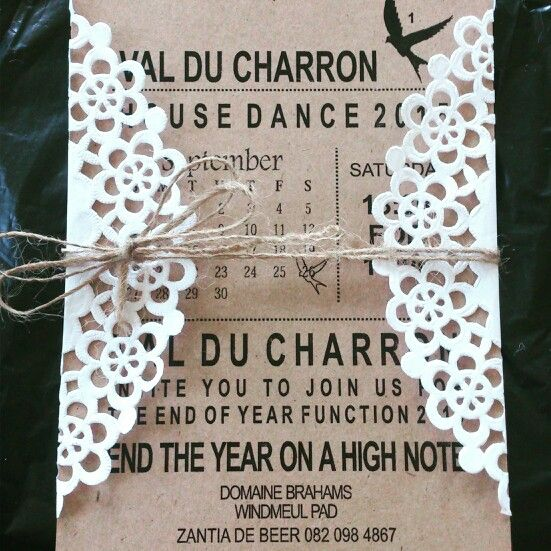 End of year function invites