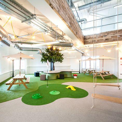 Bureau sans bureau - OFFICE & CULTURE - jardin intérieur