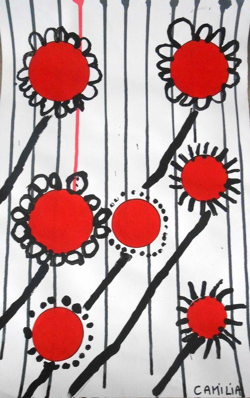 fleurs peinture activit s manuelles pinterest. Black Bedroom Furniture Sets. Home Design Ideas