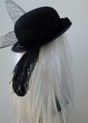 Kup mój przedmiot na #vintedpl http://www.vinted.pl/akcesoria/kapelusze-i-czapki/18929142-czarny-melonik-gotycki