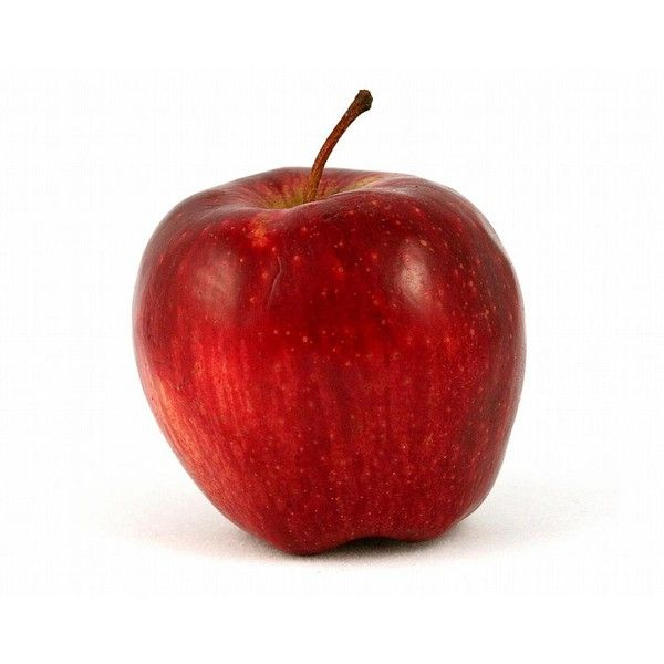 Red Apple on White Background – Free Stock Photo found on Polyvore