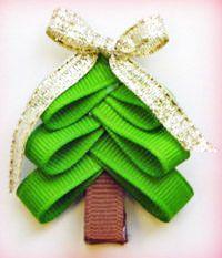CHRISTMAS TREE BARRETTE CRAFT