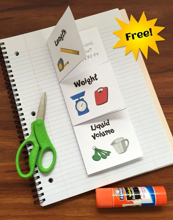 Download a free Customary Measurement Foldable to use alone or in an interactive notebook.