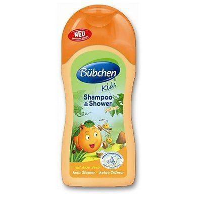 Bubchen Bübchen Kids Shampoo & Shower Apricot with Aloe Vera 6.76 fl. oz. (200ml) by Bubchen. $12.99. With the delicous fruity scent of Apricots. With washing ingredients on an herbal basis - Soap free !. With Aloe Vera, Wheat Protein and Provitamin B5 (Panthenol). Made in Germany & imported from Germany. Skin-friendliness dermatologically tested. Bubchen Bübchen Kids Shampoo & Shower Apricot is the ideal cleansing product for kids.Its special ingredients are spe...