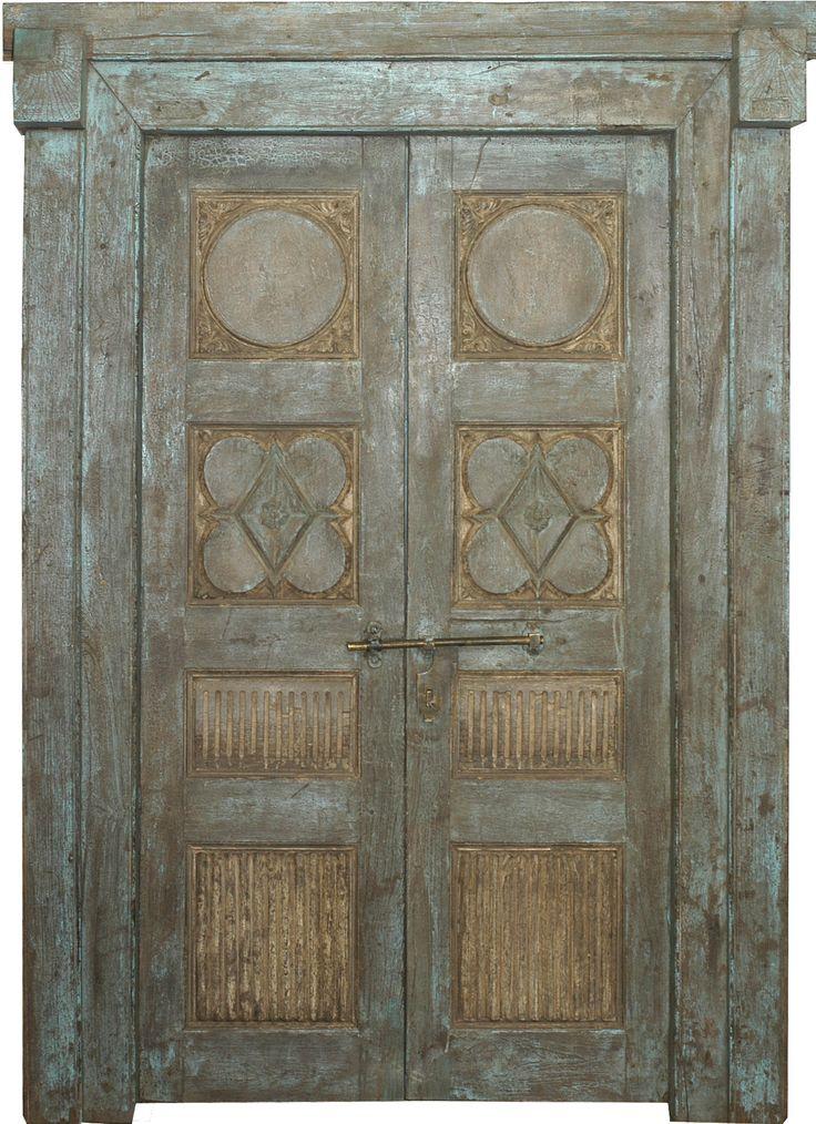 Conely   Puertas de madera,  artesanales. Decoración.#puerta #antiques