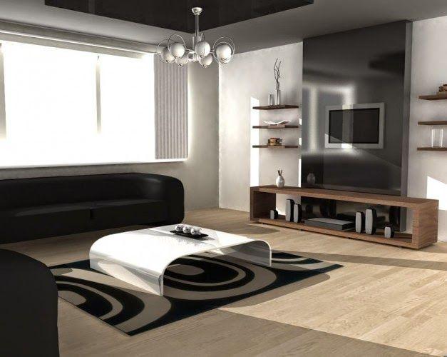 Desain Ruang Keluarga Mewah Dengan Simple Furnitur
