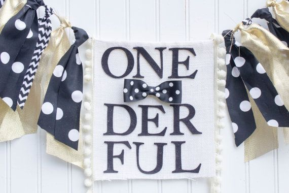 Onederful birthday highchair banner Mr. by PrettyLittleClippie