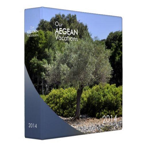 Binder in Aegean colors