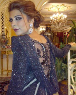 Assala in NJ couture   That beautiful back, and color