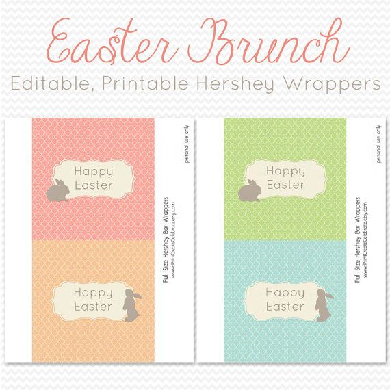 Easter Candy Bar Wrapper Candy Bar Label by PrintCreateCelebrate
