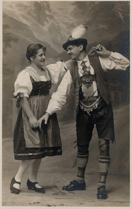Trachtenhut | Tanzpaar um 1900s