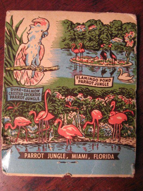 RETRO FLORIDA Parrot Jungle MATCHBOOK