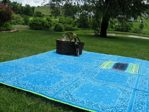 Extra Large Picnic Blanket Beach By Joanscreativequilts