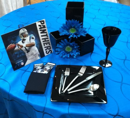 Classic Party Rentals Charlotte has everything you need for a Carolina Panthers Playoff Party!!  704-523-9300
