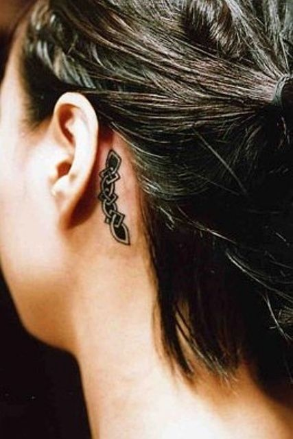 Celtic Tattoo Behind Ear: Artists Style, Tattoo Designs, Tattoo'S, Celtic Tattoos, Celtic Knot Tattoo, Behind Ear Tattoos, Totems Tattoo, Beautiful Tattoo, Behind Ears Tattoo
