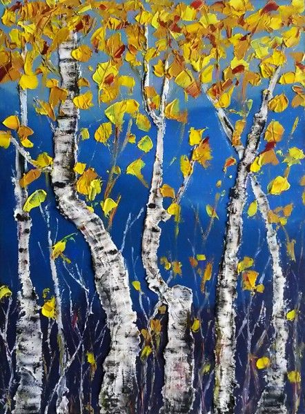 Birch tree, Oil on canvas,  Olga Tretyak  http://x-doux-x.livejournal.com/36683.html?mode=reply#add_comment