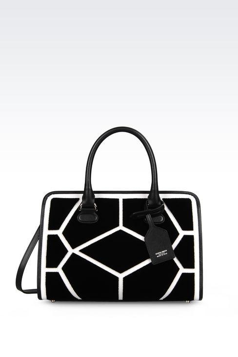 MEDIUM VELVET BAULETTO BAG : Top handles Women by Armani - 1