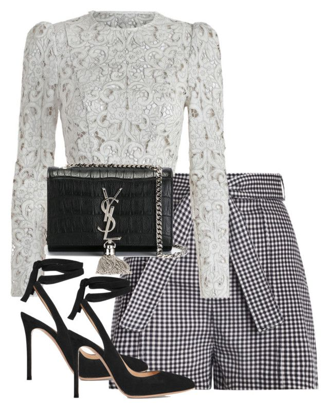 """""""Untitled #4092"""" by theeuropeancloset on Polyvore featuring Zimmermann, Gianvito Rossi and Yves Saint Laurent"""