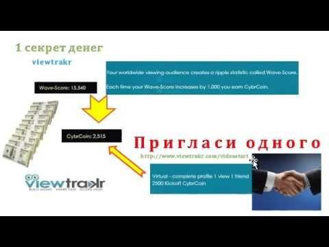 Социальная Сеть Viewtrakr: Три секрета денег!
