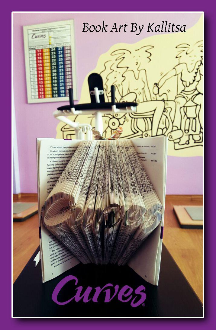 Δώρο ♥ Logos ♥ Λογότυπο ♥ Δώρο λογότυπο εταιρείας ♥ Βιβλίο ♥ Book Folding ♥ Book Art ♥ Book Art By Kallitsa #Curves #logotype #bookartbykallitsa