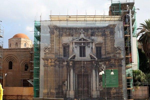 Trompe-l'oeil - Palermo chiesa della Martorana  Photo E.Paris