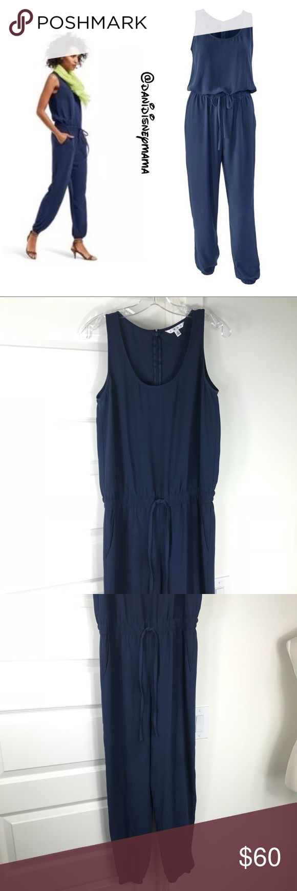 CAbi French Navy Playsuit CAbi French Navy Playsuit size Small. Gently loved and in excellent condition. Retails $128. CAbi Pants Jumpsuits & Rompers